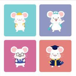 春节 国潮 Q版老鼠挂画4模型素材 彩色模型 三维家模型素材库