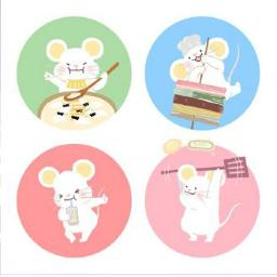 春节 国潮 Q版老鼠挂画2模型素材 彩色模型 三维家模型素材库